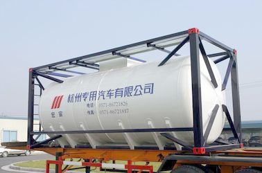 চীন Stainless Steel 20ft Liquid Tank Container 26000L International Shipping Standard সরবরাহকারী