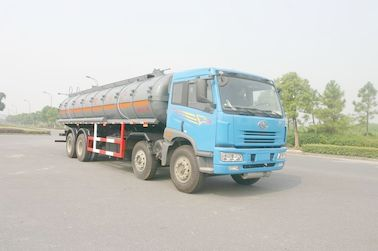 চীন 24.5 cbm Chemical Liquid Tanker Truck 6x4 For logistic Industries পরিবেশক