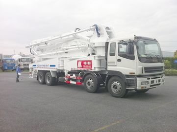 চীন 8x4 SSAB Steel ISUZU 47m Truck Mounted Concrete Pump / Delivery Equipment 390HP পরিবেশক